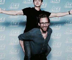 tom holland, tom hiddleston, and loki image