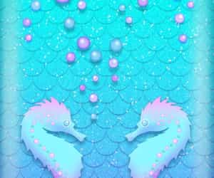 background, blue, and bubbles image