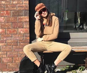 autumn, hat, and light brown image