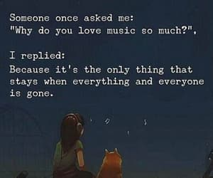 music, quotes, and alone image