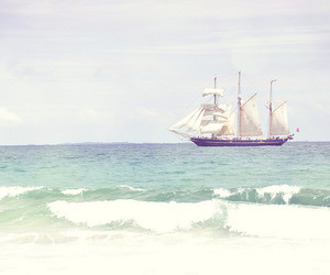 ship, ocean, and water image