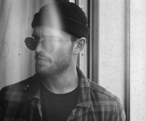 black&white, handsome, and glasse image