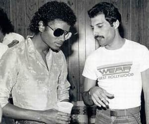 michael jackson, Freddie Mercury, and Queen image