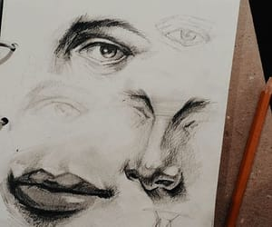 art, drawing, and graphite image