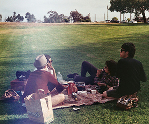 boy, friends, and picnic image