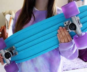 tumblr, blue, and penny board image