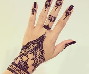 beautiful, muslim, and tatto image