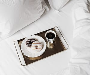 bedroom, donuts, and morning image