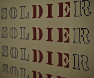 die, soldier, and typography image