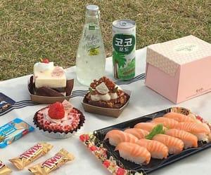 food, picnic, and sushi image