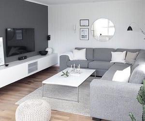 home, grey, and salon image