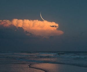 beach, aesthetic, and clouds image