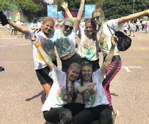 color, color run, and happy day image