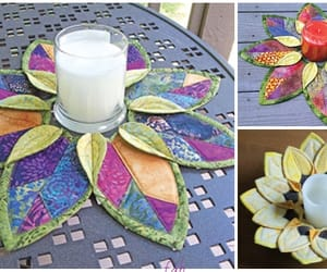candle holder, sew, and table topper image