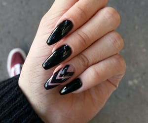 black, long, and manicure image