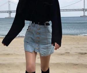 fashion, skinny, and style image