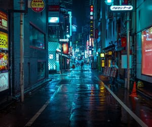 japan, lights, and night image