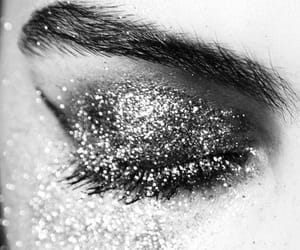 glitter, makeup, and eye image
