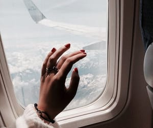 travel, plane, and nails image