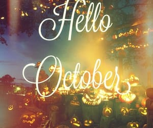 Halloween, calabazas, and hello image