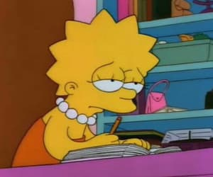 lisa, simpsons, and sad image