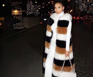 fashion, fur coat, and outfit image