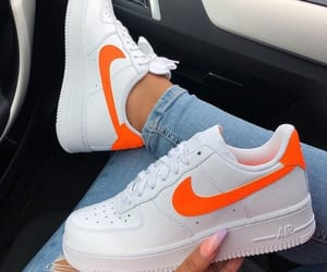 nike, shoes, and orange image