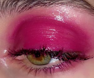 eyes, girl, and pink image