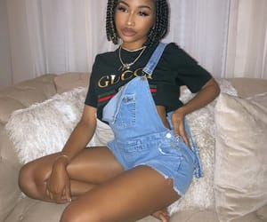 black girl, hair, and melanin image