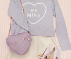 outfit, heart, and pastel image