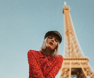 blogger, eiffel, and red image