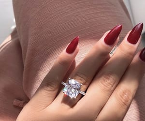 beauty, nails, and red nails image