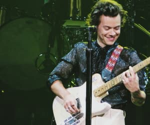 Harry Styles, black, and guitar image