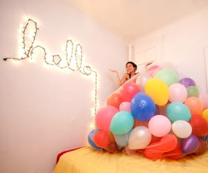 balloons, bright, and colorful image