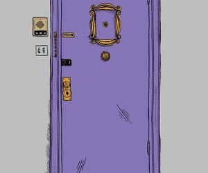 friends, door, and wallpaper image