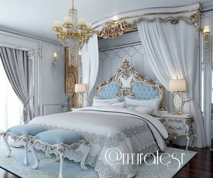bedroom, canopy, and fancy image