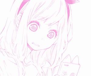 anime, anime girl, and pink theme image