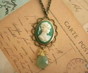 cameo, vintage, and necklace image