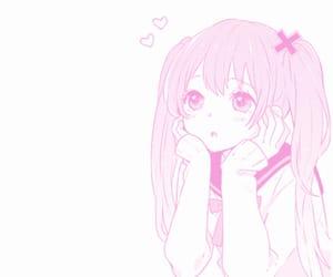 anime girl, baby, and baby pink image
