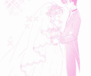 anime, dress, and marriage image