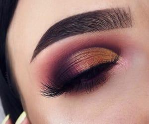 eye makeup, eyeshadow, and gold image