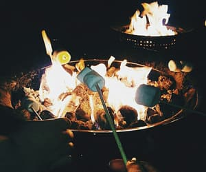 aesthetic, campfire, and chocolate image