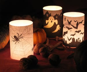 Halloween, spider, and candle image