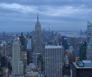 new york, top of the rock, and empire state image
