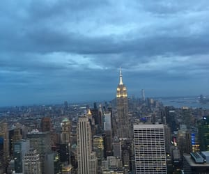 empire state, rockefeller center, and scenery image