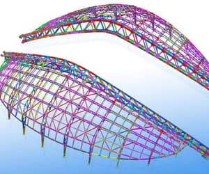 structural 2d drafting, structural cad drawing, and structural 3d modeling image