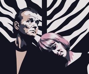 bill murray, Scarlett Johansson, and digital art image