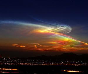 sky, light, and night image