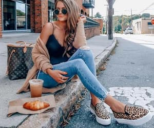 casual, fashion, and slip on image