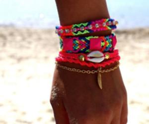 beach, summer, and bracelet image
